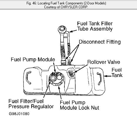 nissan altima fuel filter diagram