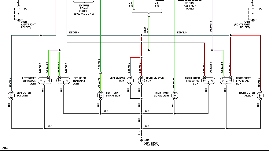 What Is The Turn Signal Wiring Diagram For A 1995 Honda Civic