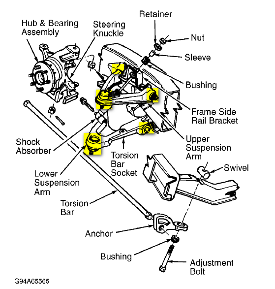 dodge dakota front brake diagram