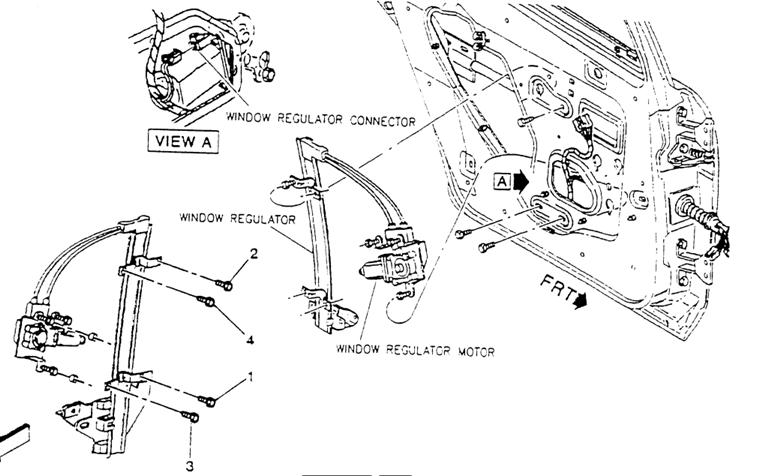 Replacing the driver 39 s side window regulator on a 1998 for 1998 buick century window regulator