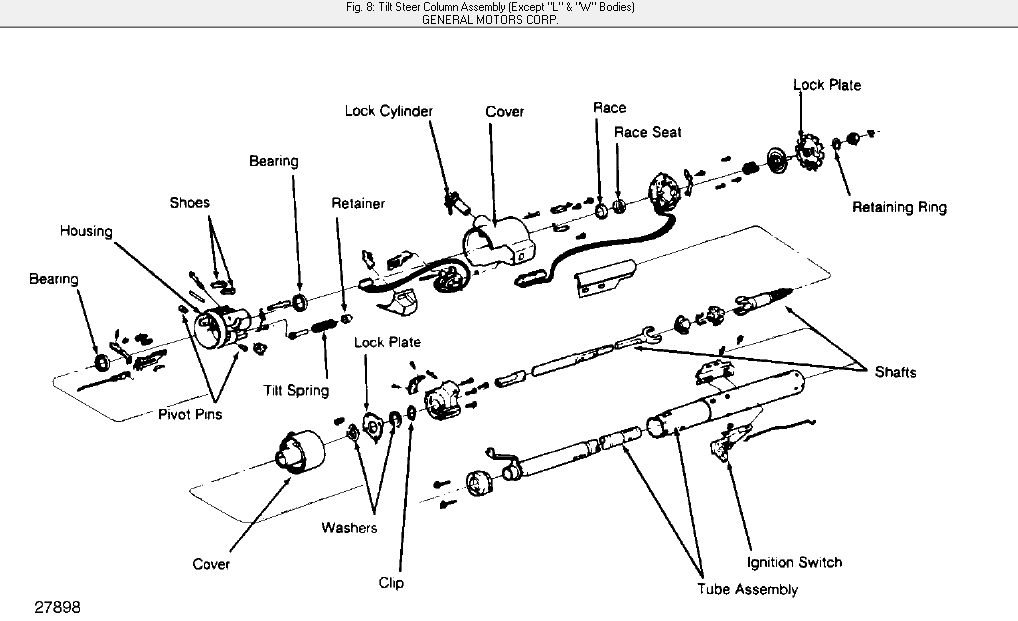 1990 Oldsmobile 88 royal steering column diagram pleaseJustAnswer