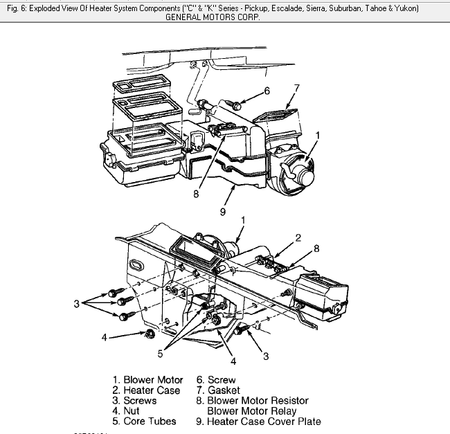 2013 gmc sierra ac blower parts diagram  diagram  auto