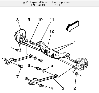 Lumina Rear Suspension Diagram