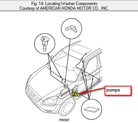 2003 honda accord windshield wipers diagram