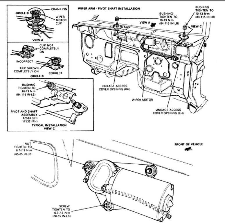 how tor replace a wiper motor in a 1992 ford ranger pickup
