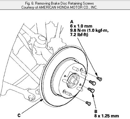 1998 Honda Accord Rotor