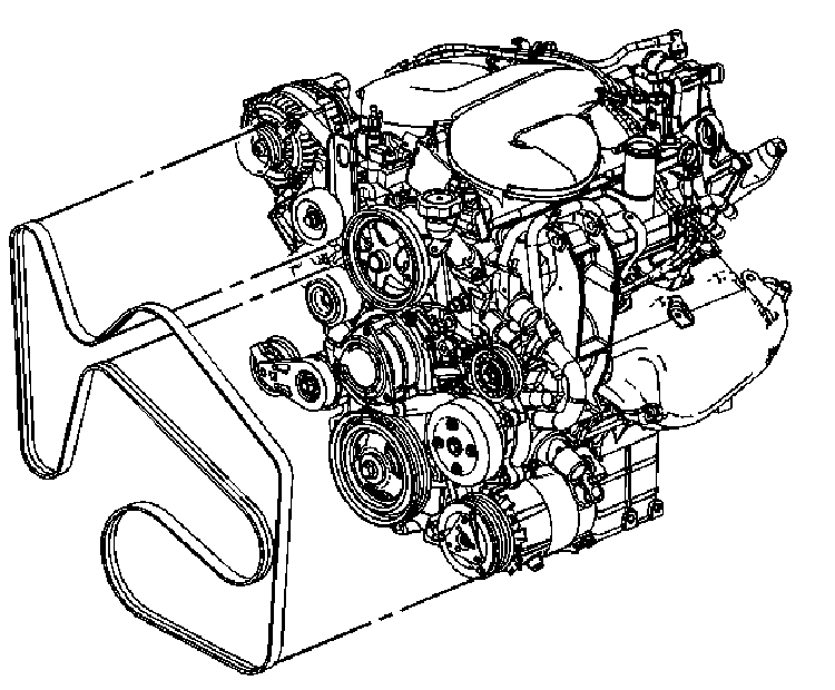 Need a fan belt diagram for 2008 impala 3.8L engine
