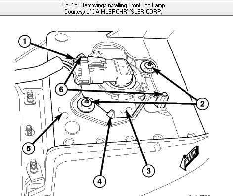 how do i remove and replace a fog light assembly from my 2005 dodge 96 Dodge Dakota Wiring Diagram graphic