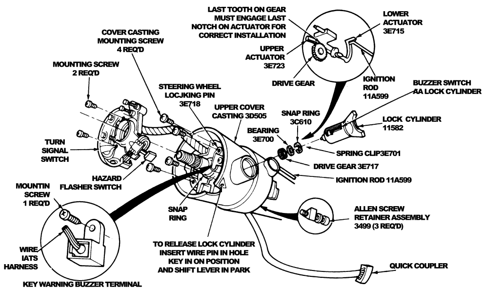 how do you disassemble the ignition switch to replace the