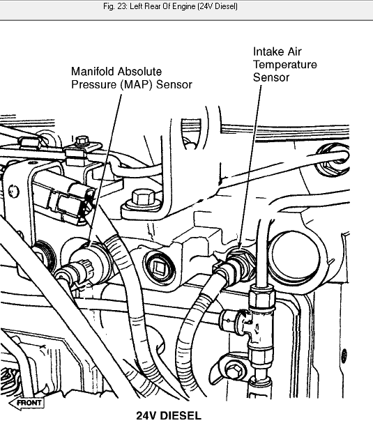 Where Is The Map Sensor Located On A 98 5 Dodge 24 Valve Cummins