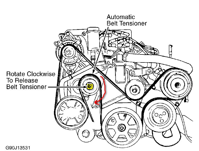 Need belt diagram for 1993 plymouth voyager