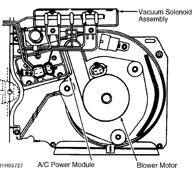 1994 buick roadmaster  automatic temp  control  blower motor stopped  was intermittent past week