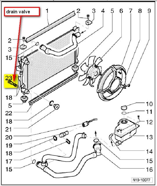 2001 audi a4 radiator diagram