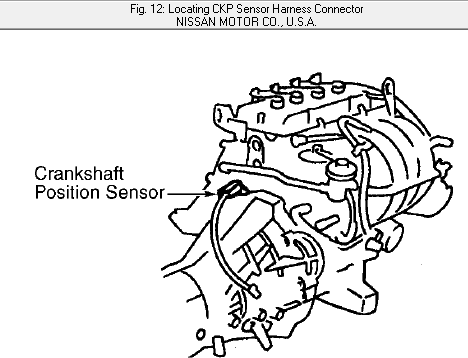 Where Is A Crank Position Sensor Located On 1998 Nissan