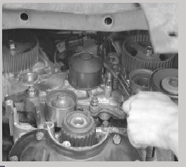 Where is the water pump located in a 1997 Chrysler Sebring ...