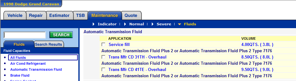 Need to replace transmission fluid in my Dodge Gran Caravan-98 3 3