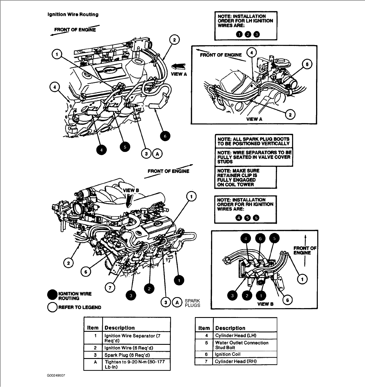 i need the firing order on coil for 1996 ford winstar 3 8 v 6 coil for 1996 ford winstar 3 8 v