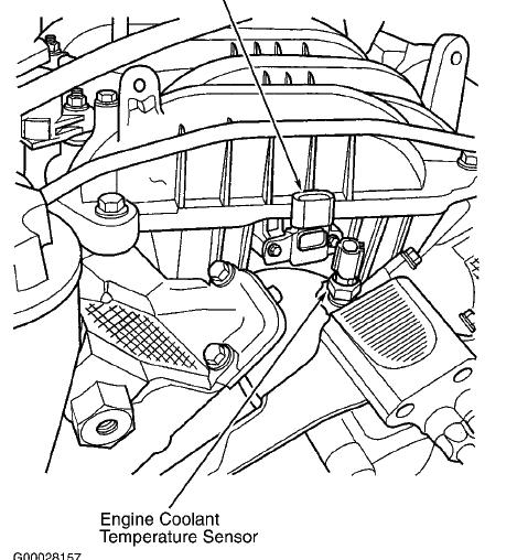 2002 4 7 Dodge Ram Heat Sensor Located