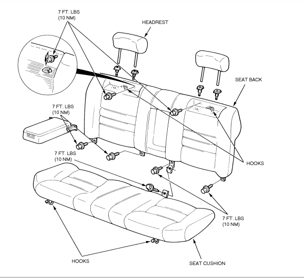 Back Seat Diagram