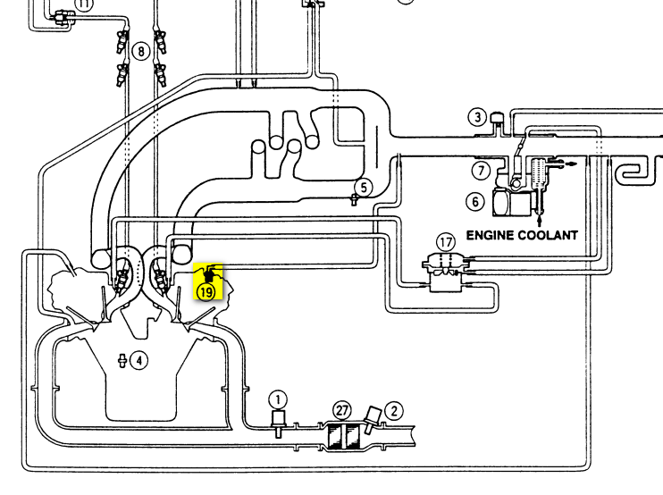 where is the pcv valve located on a 1997 acura cl 3 0