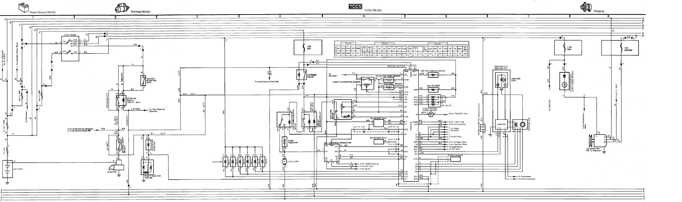 1989 Toyota Supra Ignition Wire Diagram Or Schematic From