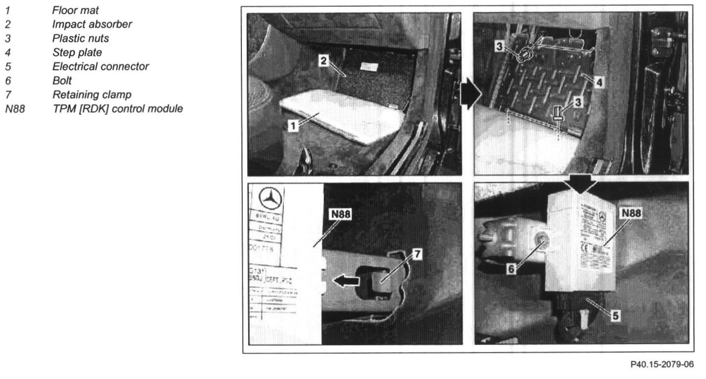 2004 S430 4 Matic   Replacing The Tire Pressure Monitor