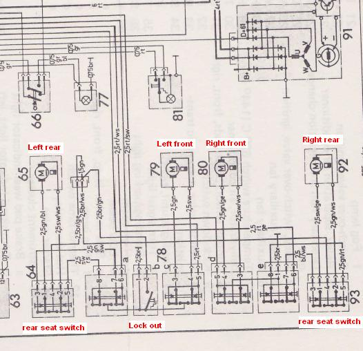wiring diagram mercedes 380sl window motor diagram free printable wiring diagrams