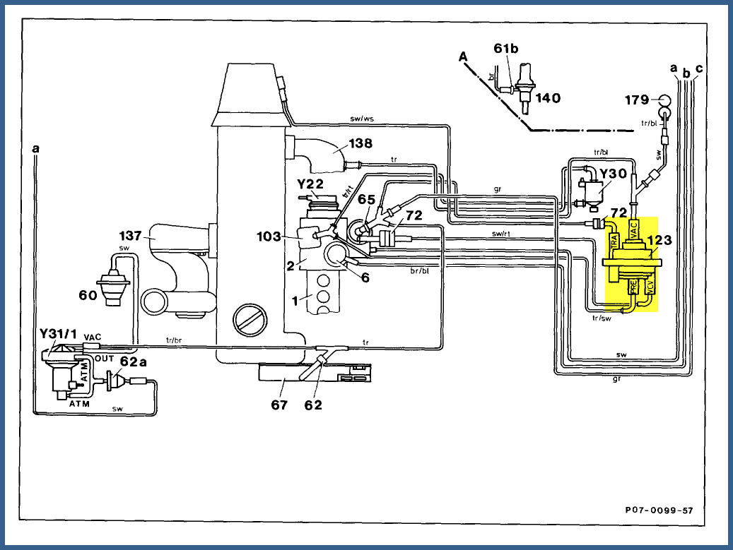 marty i have a 1991 350sdl that has the center vent not blowing air  1991 350sdl engine diagram #7