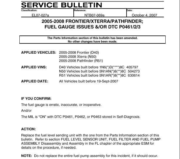 The Service Bulletin Do Not Mean It S Under Warranty Just That Nissan Is Aware Of Problem And Gives Out Updated Part