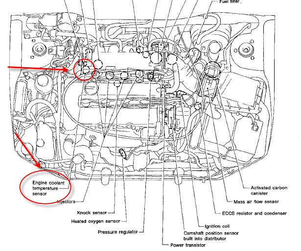 19rfl Grandaughters 1992 Nissan Sentra Cooling on nissan 350z thermostat