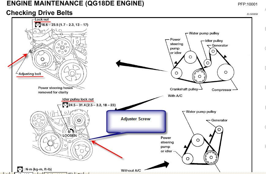 31nwy Change Serpentine Belt Drive Belt 97 Nissan also Nissan Frontier 4 0 Engine Diagram furthermore 2000 Nissan Xterra Spark Plug Firing Order Diagram likewise How To Adjust A 2004 Nissan Frontier Timing Belt Tensioner additionally 91762 2003 Cadillac Cts Rear Differential Leak Seal. on 2003 altima serpentine belt diagram