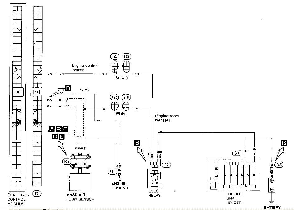 Wiring Diagram For 1993 Nissan 300zx Nissan Wiring
