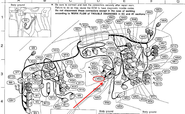 nissan ka24e engine wiring harness  nissan  wiring diagram