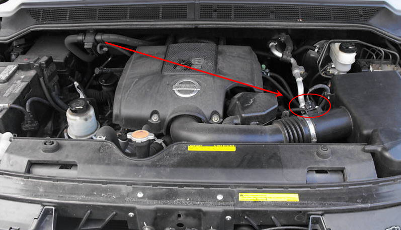 2008 nissan altima m air flow sensor location