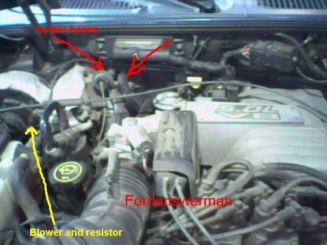 Where Is The Blower Resistor Thermal Limiter Relay Or Fuse Located In A 1999 Ford Explorer