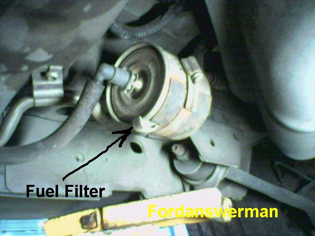 how do i change a fuel filter on an 1989 ford taurus