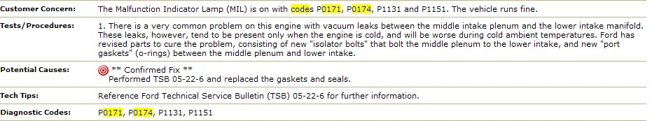 2004 Ford F150 Rough Idle Lean Codes 4520 Jpg