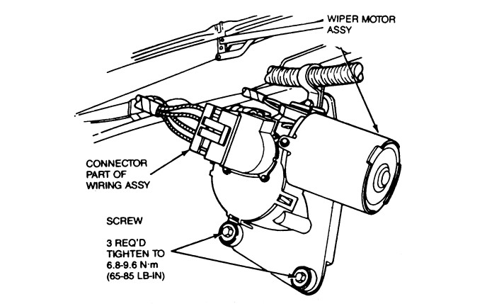Chevy S10 Wiper Motor Wiring Diagram Further Wiper Motor Wiring