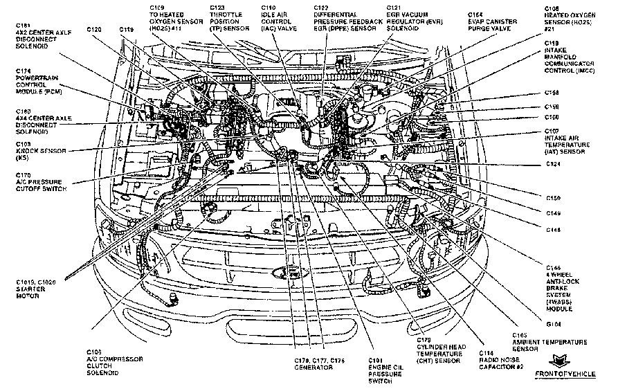 2000 f250 engine diagram