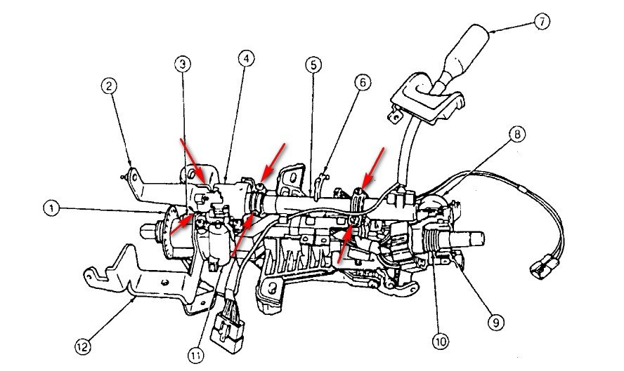 Have 1995 Windstar With 3 8 V6  Column Shift Linkage Is