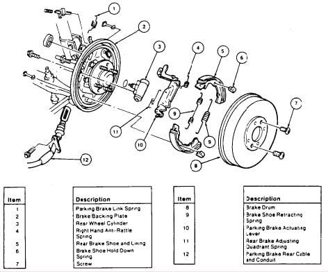 93 Ford Escort Lx Changing Back Brake Shoes Cant Get Drumdiagram
