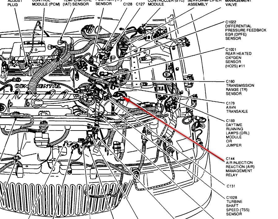 Secondary air injection system valve A malfunction97