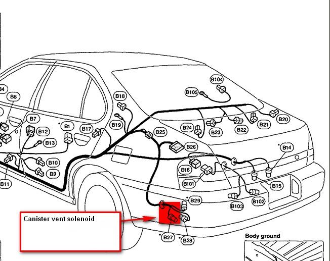 nissan an fuel tank pressure sensor location