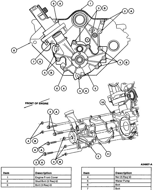 Ford Windstar Water Pump Diagram On Heater Hose Diagram For 1999