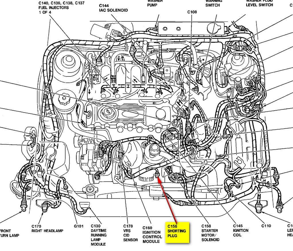 Ford Tempo Starter Diagram Wiring Will Be A Thing 1992 I Have 1993 Gl That Just Put Distributor In Now It Rh Justanswer Com F 150 Location
