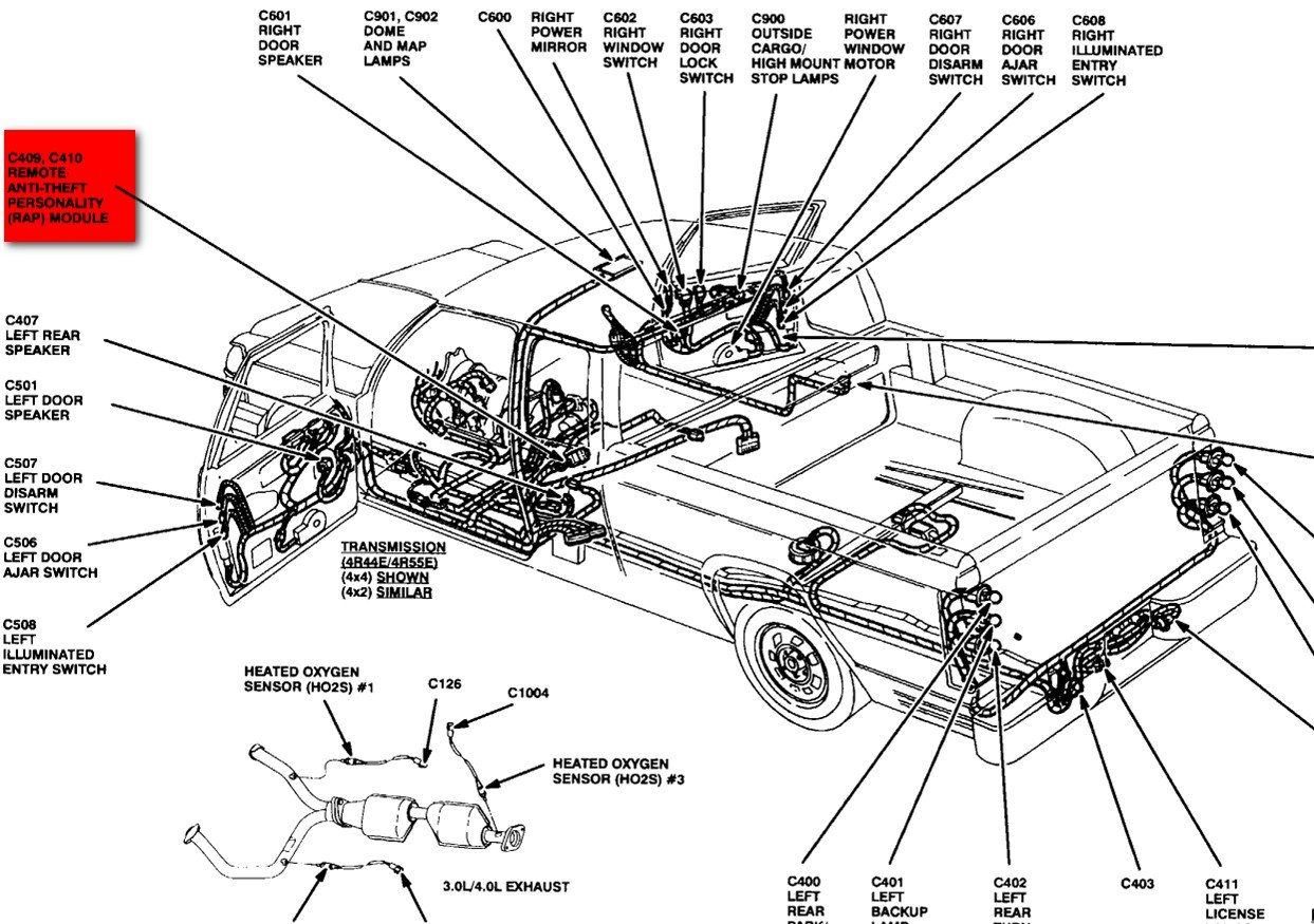 antie theft 2007 ford ranger fuse box diagram  ford  auto fuse box diagram