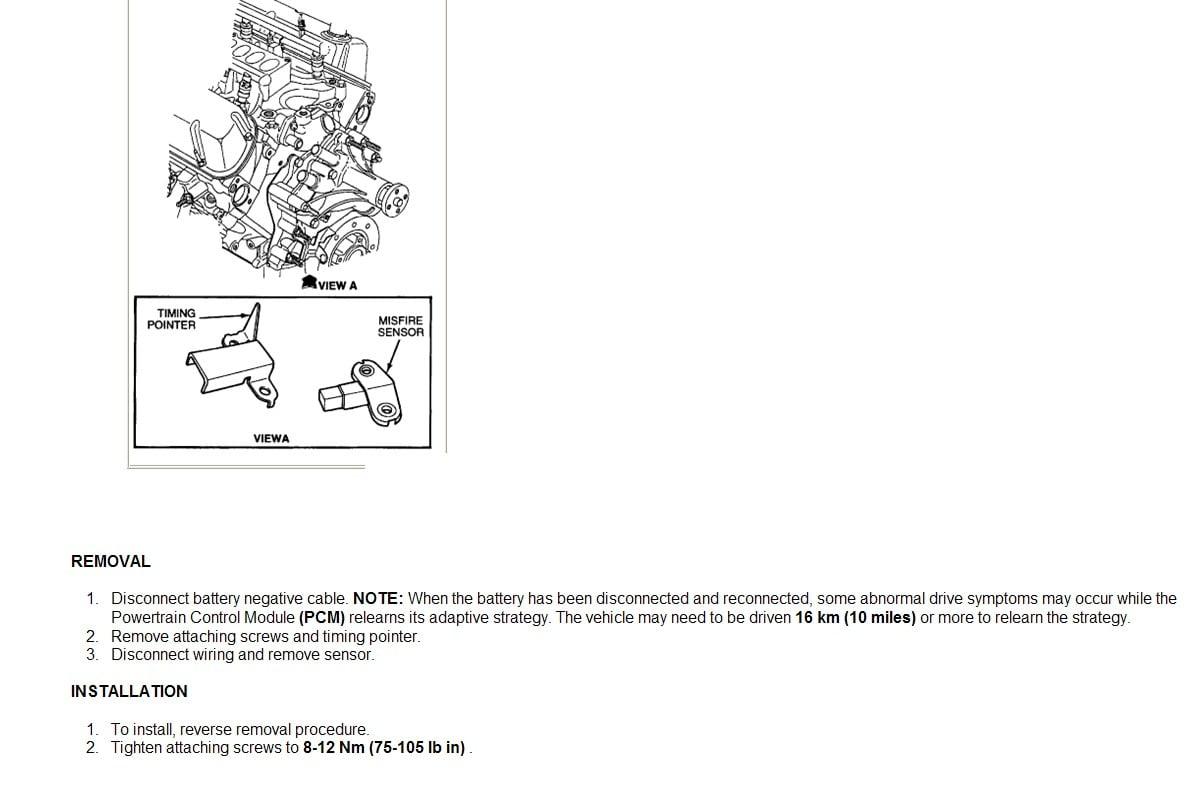 Where Is The Crankshaft Position Sensor On Ford E350 1996 Van