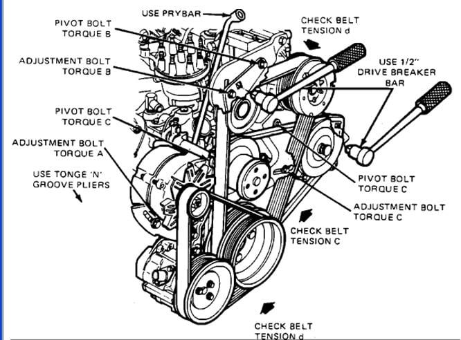 I have a 1986 mercury cougar V8 and I lost my belt diagram ...