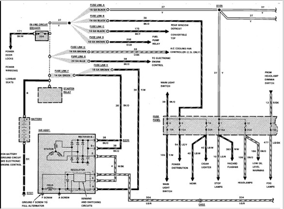 Looking For A Wiring Harness Diagram For 1989 Ford 5 0  H O