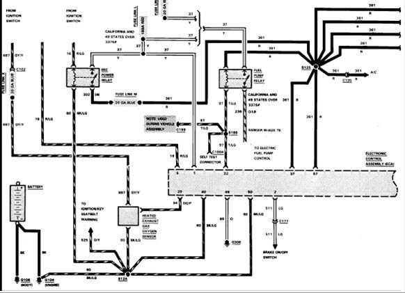 86 ford ranger fuel pump wiring diagram